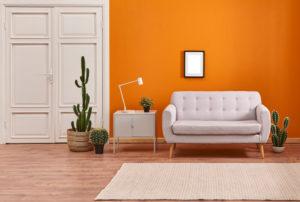 Orange Color Room